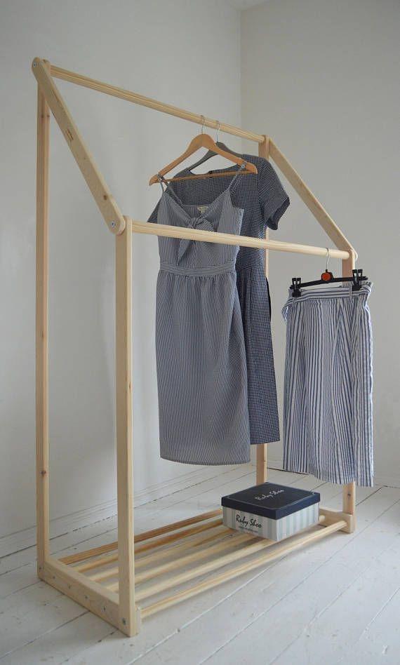 Easy And Practical Clothing Racks For Casual Décor Ideas 02