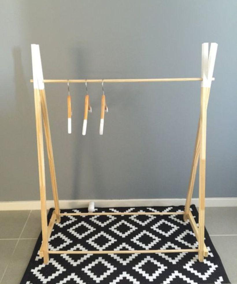 Easy And Practical Clothing Racks For Casual Décor Ideas 19