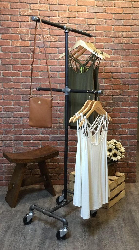 Easy And Practical Clothing Racks For Casual Décor Ideas 23