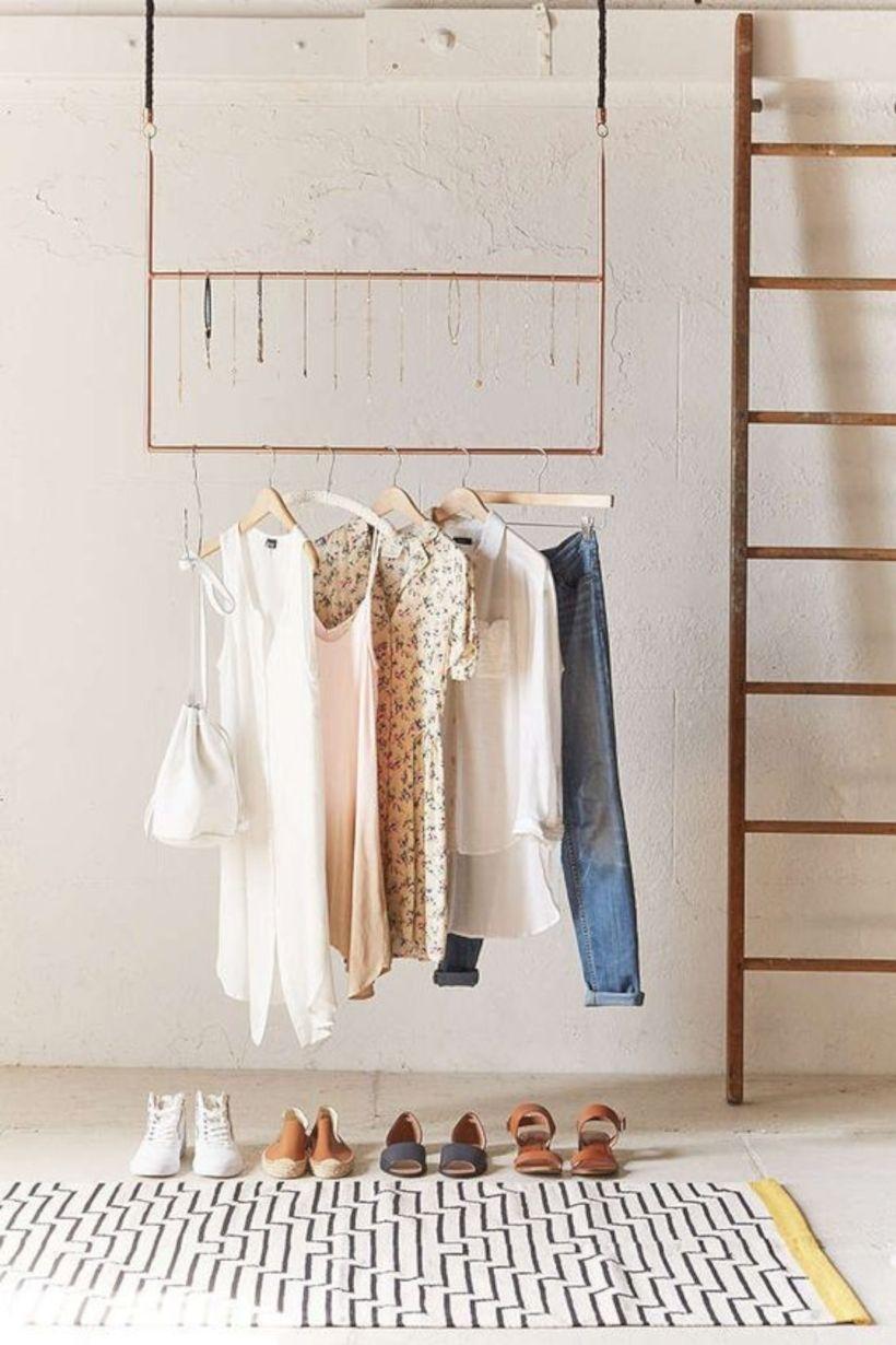 Easy And Practical Clothing Racks For Casual Décor Ideas 30