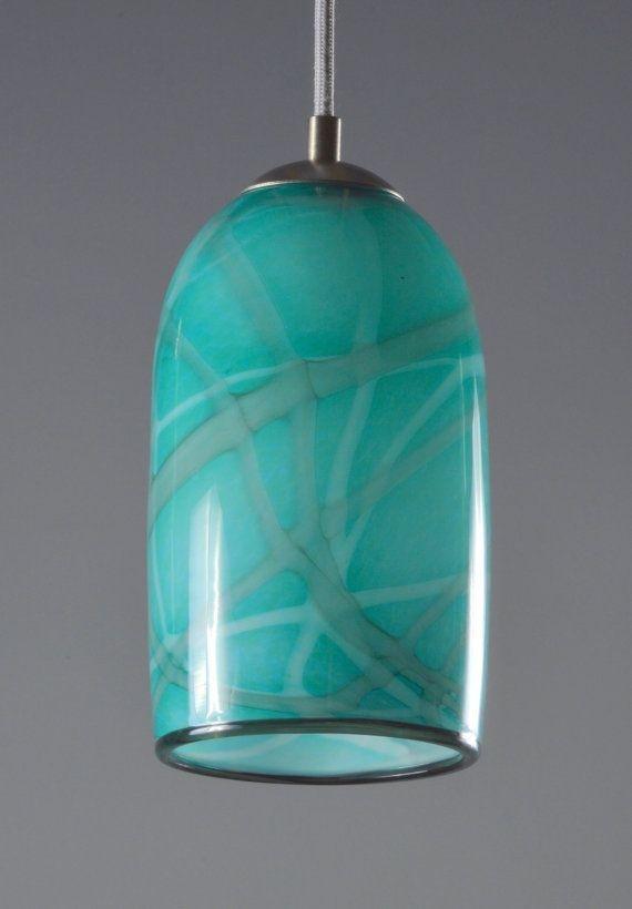 Pretty Aqua Pendant Lamp Ideas 30