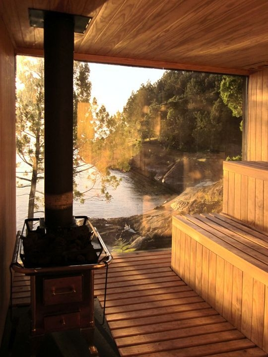 Wonderful Home Sauna Design Ideas 04