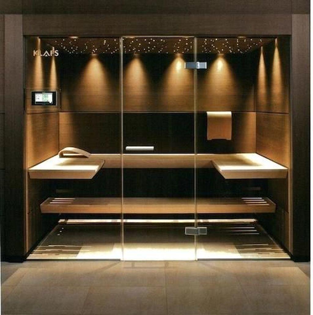 Wonderful Home Sauna Design Ideas 18