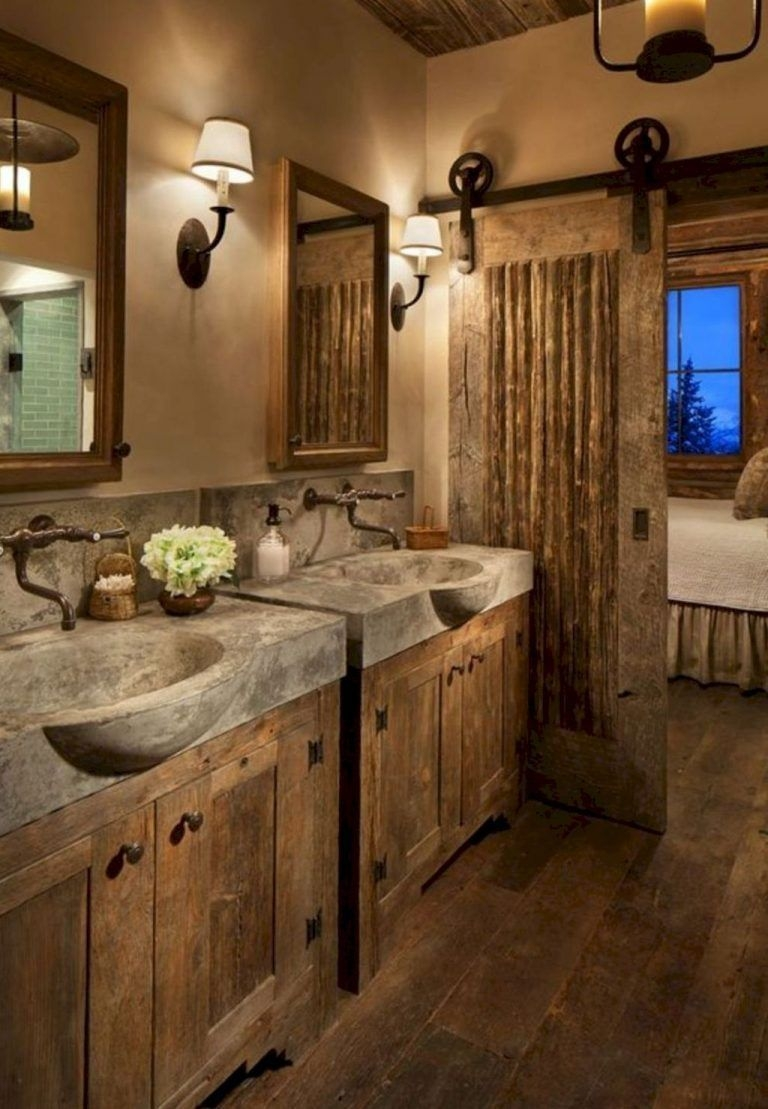 Minimalist Bathroom Winter Decoration Ideas 45