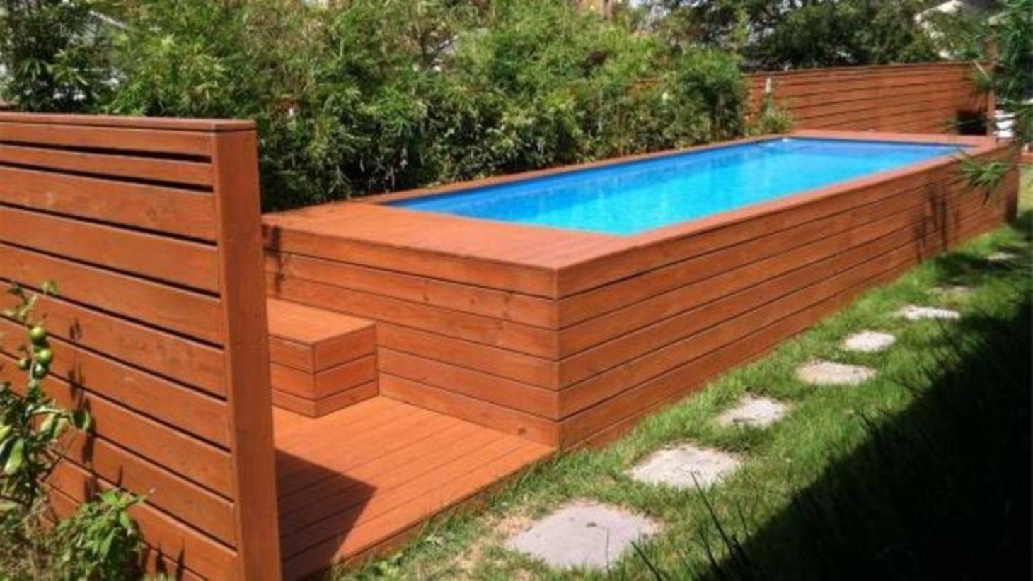 Modern Small Backyard Ideas With Swimming Pool Design 14