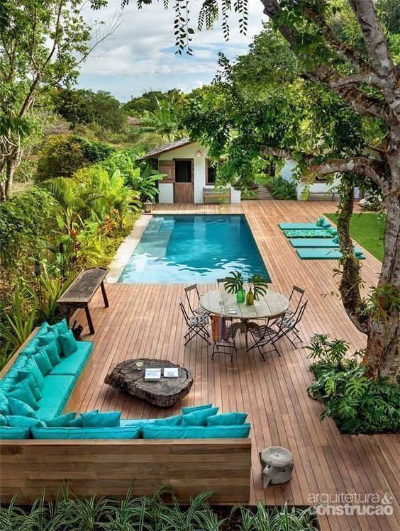 Modern Small Backyard Ideas With Swimming Pool Design 15