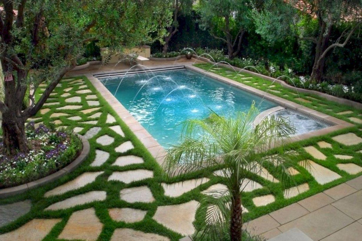 Modern Small Backyard Ideas With Swimming Pool Design 20