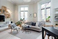 Comfy Scandinavian Living Room Design Ideas 44
