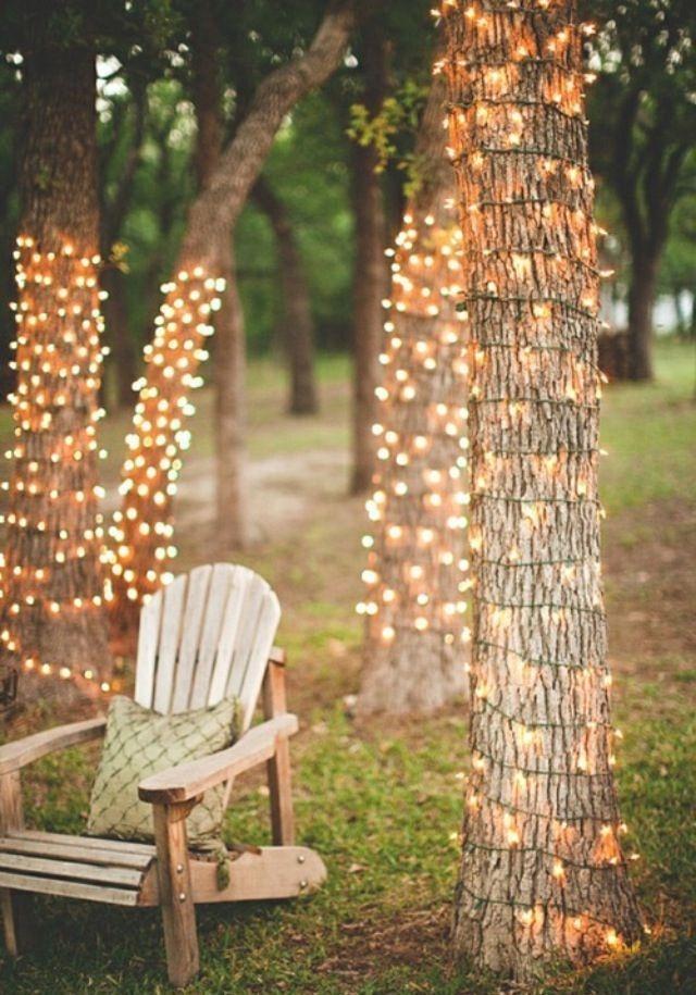 Elegant Christmas Lights Decor For Backyard Ideas 02