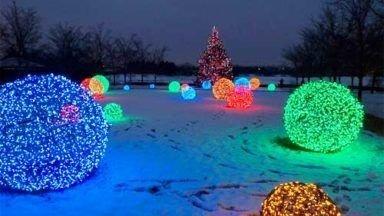 Elegant Christmas Lights Decor For Backyard Ideas 27