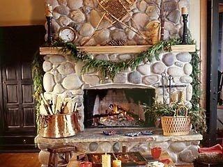 Fabulous Rock Stone Fireplaces Ideas For Christmas Décor 06