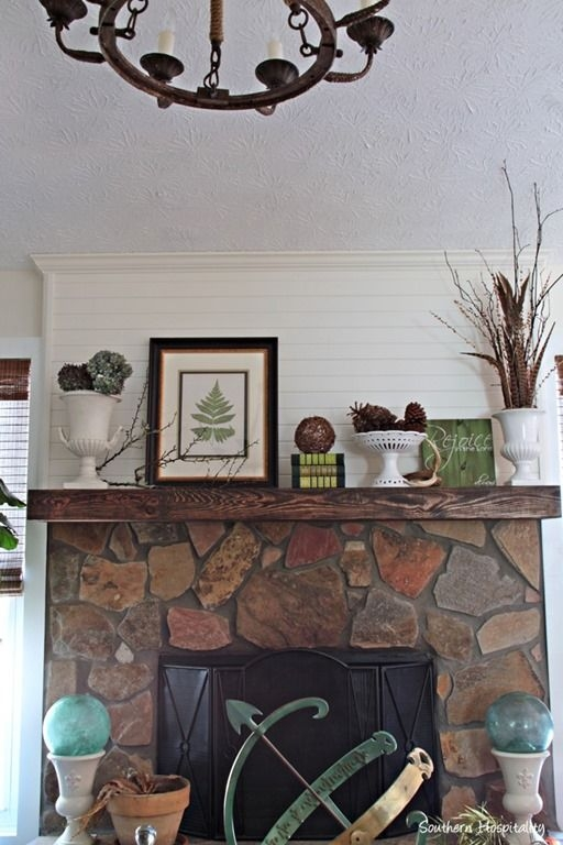 Fabulous Rock Stone Fireplaces Ideas For Christmas Décor 10