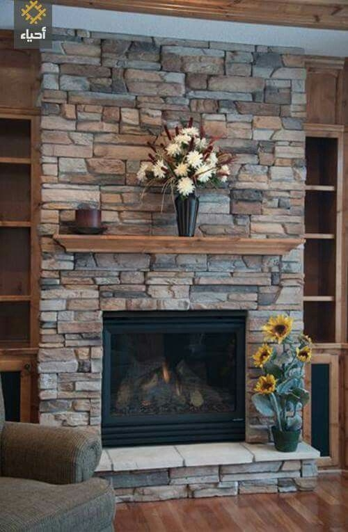 Fabulous Rock Stone Fireplaces Ideas For Christmas Décor 11