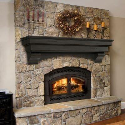 Fabulous Rock Stone Fireplaces Ideas For Christmas Décor 13