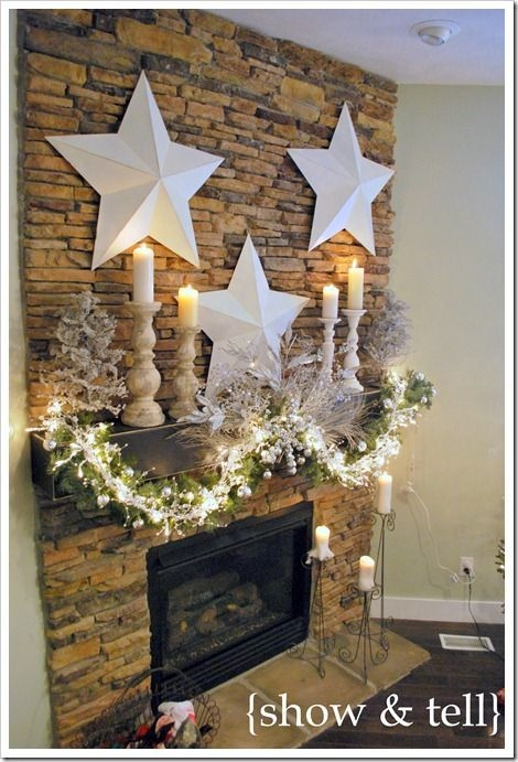 Fabulous Rock Stone Fireplaces Ideas For Christmas Décor 29