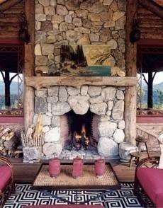 Fabulous Rock Stone Fireplaces Ideas For Christmas Décor 30
