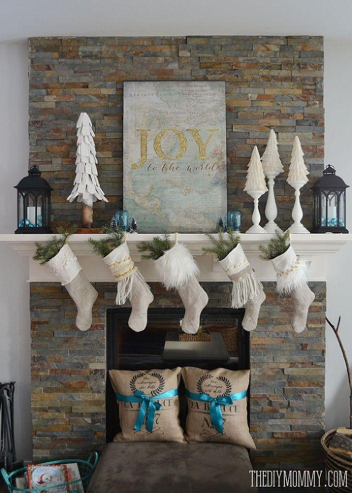 Fabulous Rock Stone Fireplaces Ideas For Christmas Décor 33