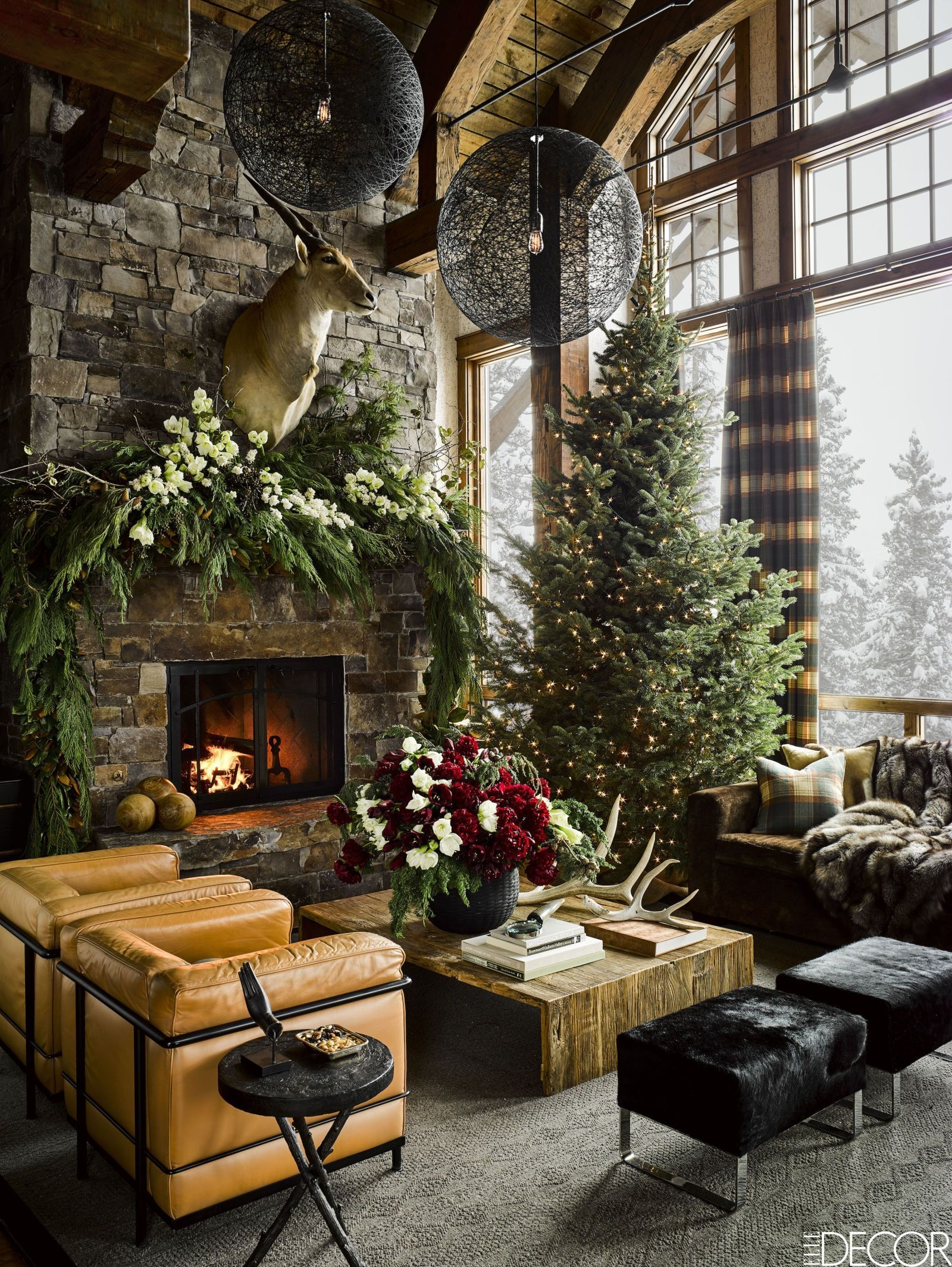 Fabulous Rock Stone Fireplaces Ideas For Christmas Décor 35