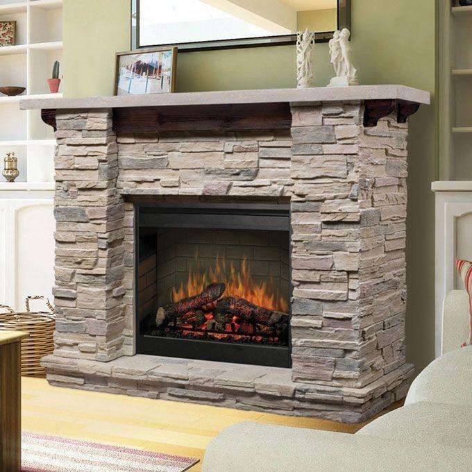 Fabulous Rock Stone Fireplaces Ideas For Christmas Décor 38