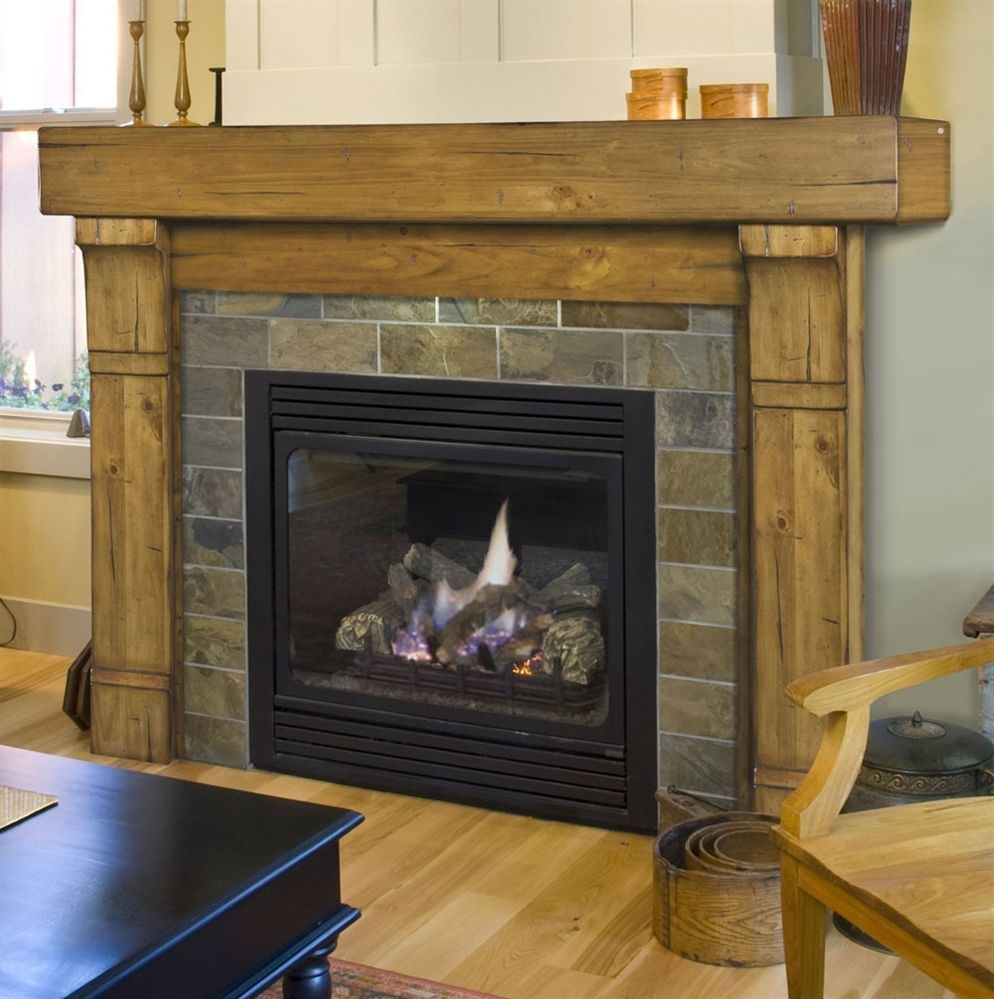 Gorgoeus Rustic Stone Fireplace With Christmas Décor 25