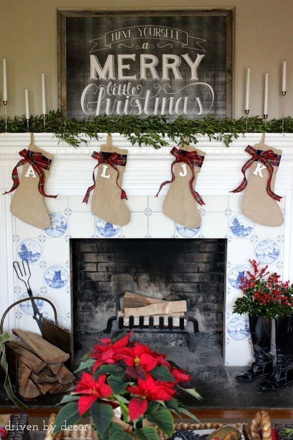 Stunning Fireplace Mantel Decor For Christmas Ideas 42