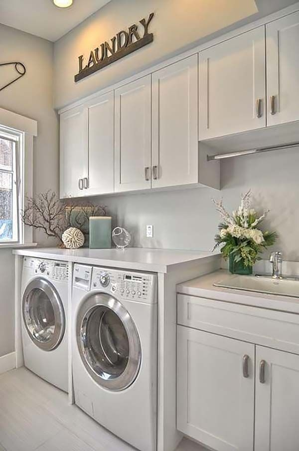Best Small Laundry Room Design Ideas33