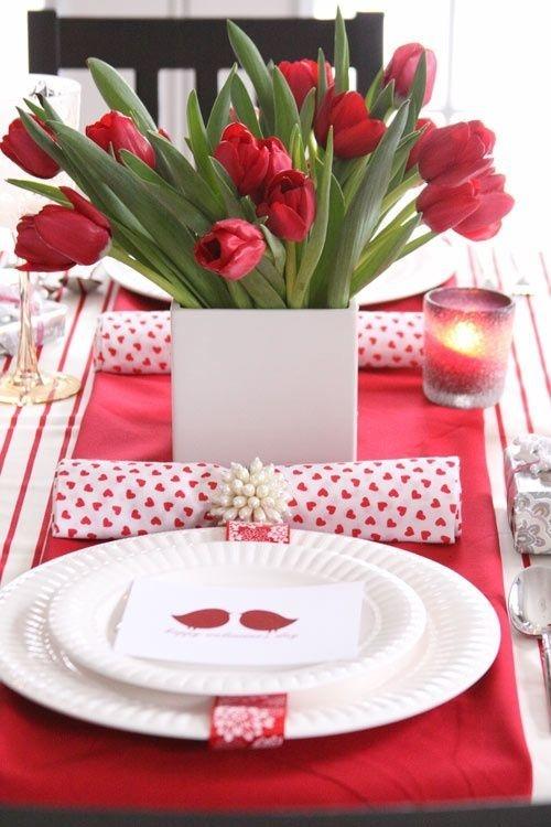 Cheap Valentine Table Decoration Ideas31