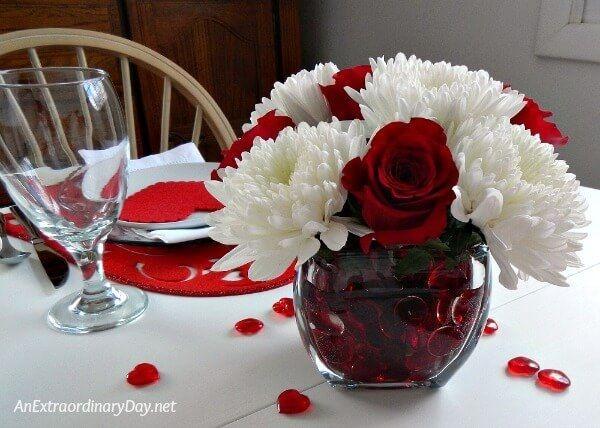 Cheap Valentine Table Decoration Ideas38