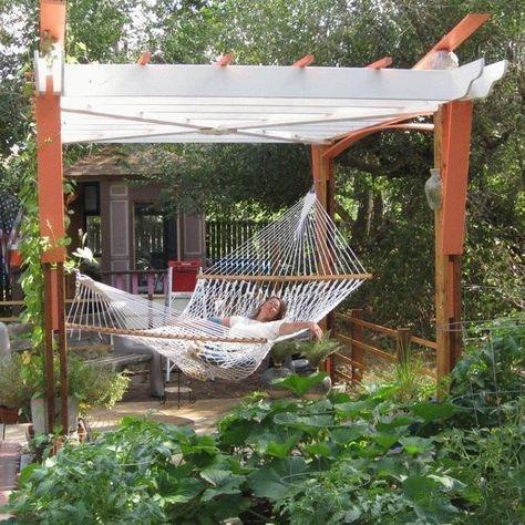 Creative Backyard Hammock Design Ideas09
