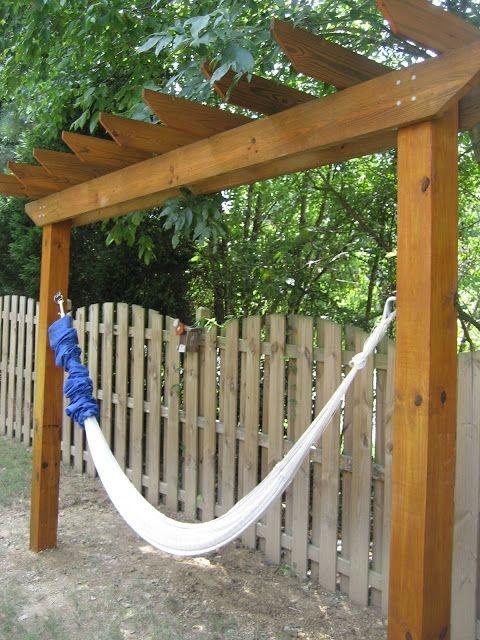 Creative Backyard Hammock Design Ideas14