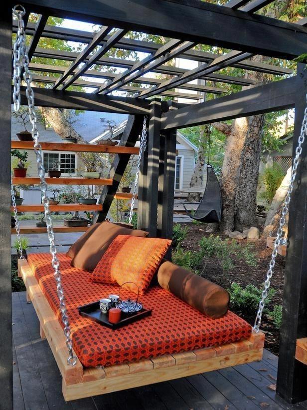 Creative Backyard Hammock Design Ideas17
