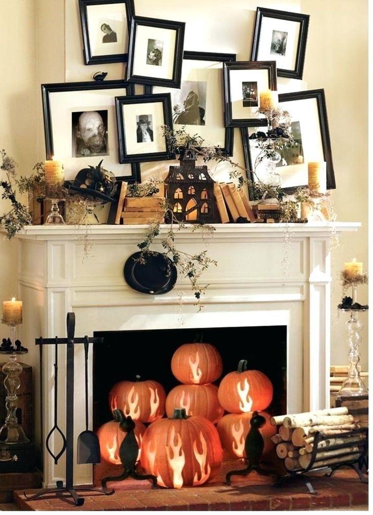 Incredible Halloween Fireplace Mantel Design Ideas01