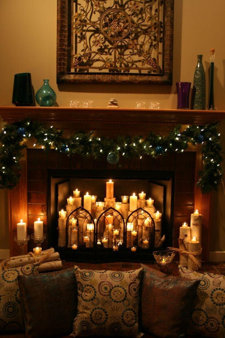 Incredible Halloween Fireplace Mantel Design Ideas11