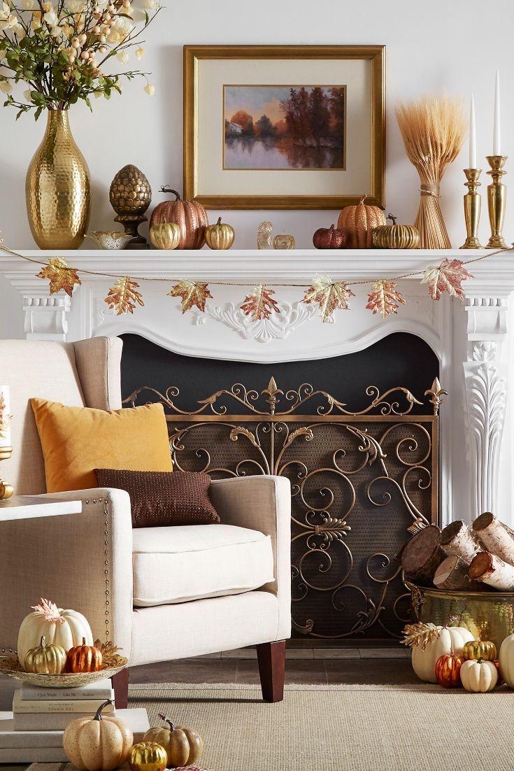 Incredible Halloween Fireplace Mantel Design Ideas16