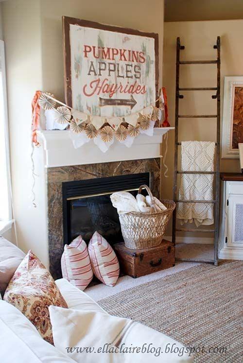 Incredible Halloween Fireplace Mantel Design Ideas25