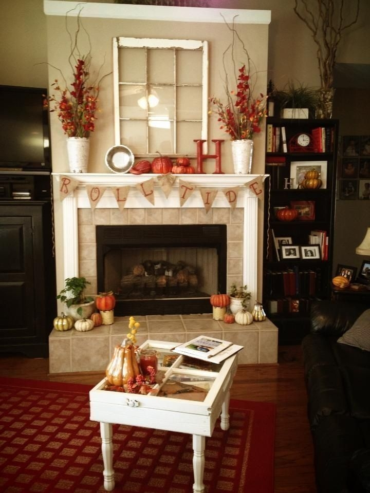 Incredible Halloween Fireplace Mantel Design Ideas26
