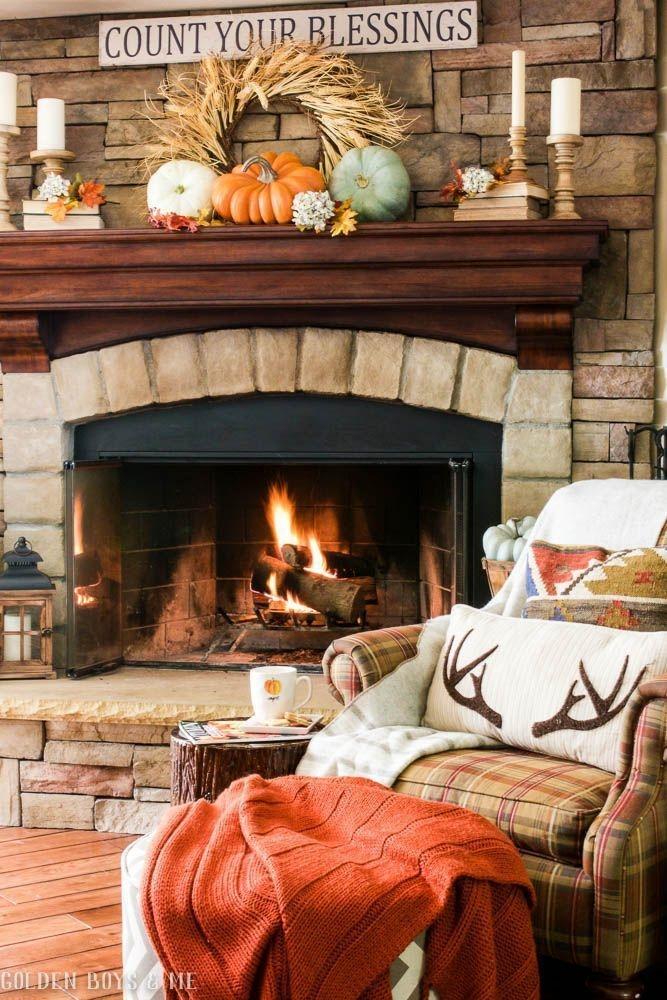 Incredible Halloween Fireplace Mantel Design Ideas34