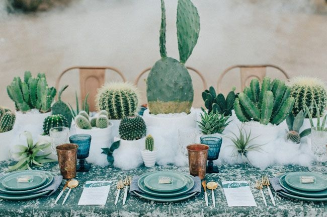 Wonderful Cactus Centerpieces Ideas19
