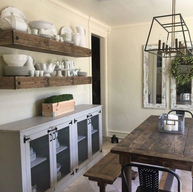 Adorable Farmhouse Dining Room Design Ideas11