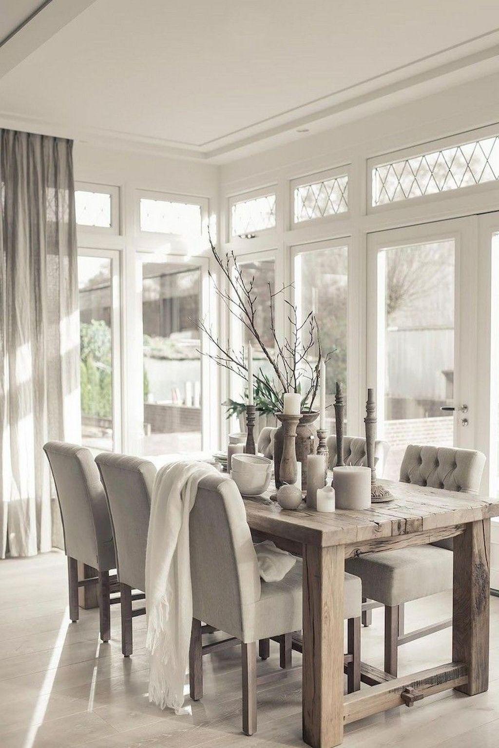 Adorable Farmhouse Dining Room Design Ideas21