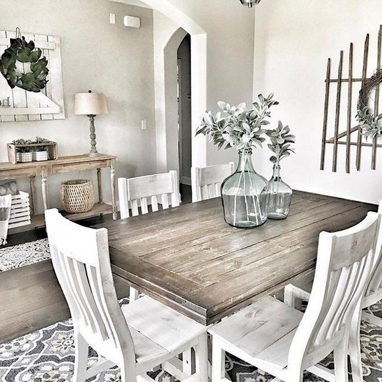Adorable Farmhouse Dining Room Design Ideas34