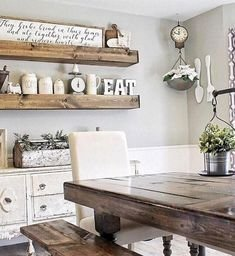 Adorable Farmhouse Dining Room Design Ideas38