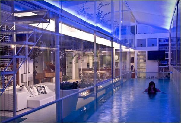 Amazing Glass Pool Design Ideas For Home19