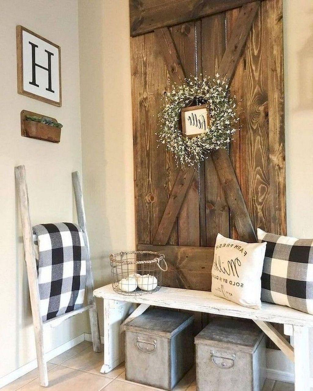 Beautiful Rustic Entryway Decor Ideas20