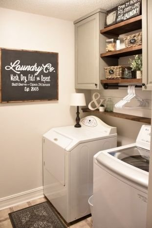 Brilliant Small Laundry Room Decor Ideas14