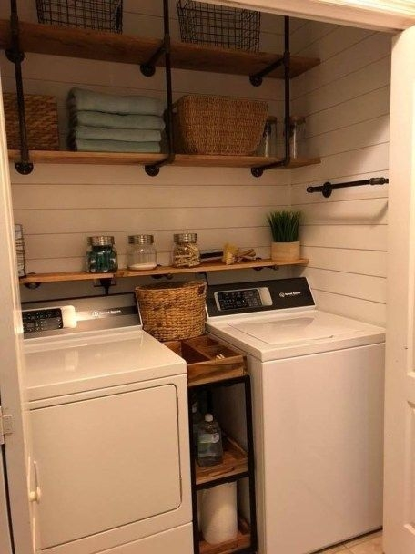 Brilliant Small Laundry Room Decor Ideas23