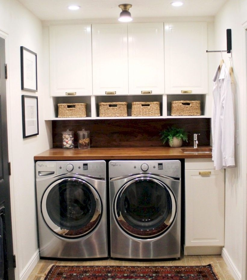 Brilliant Small Laundry Room Decor Ideas29