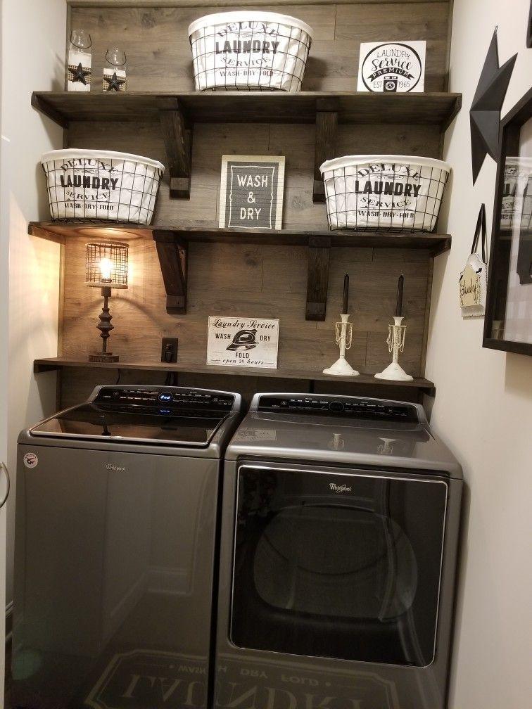 Brilliant Small Laundry Room Decor Ideas37