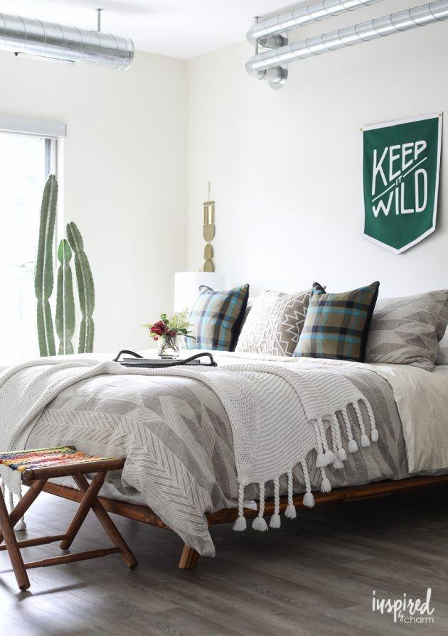 Lovely Masculine Boho Bedroom Designs29