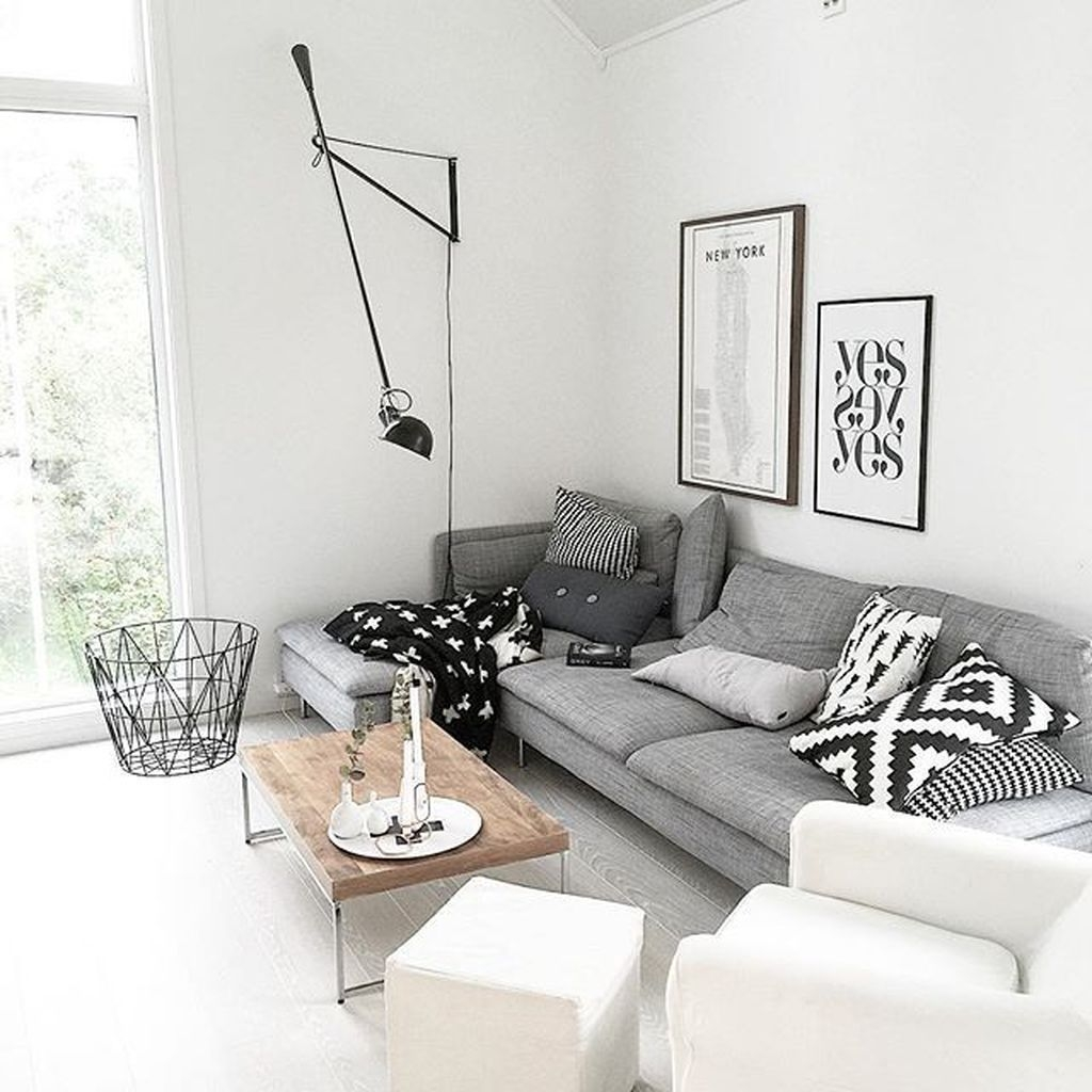 Perfect Scandinavian Living Room Design Ideas09